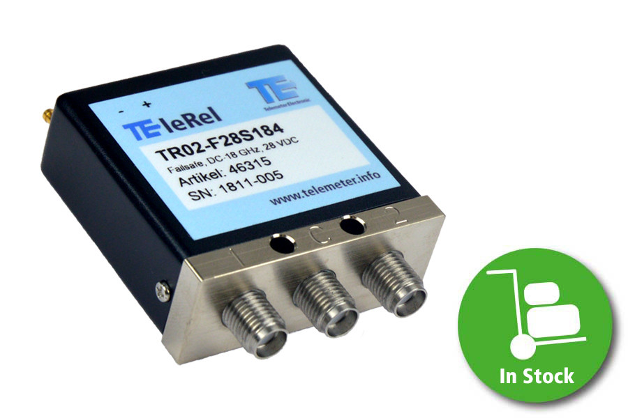 TR02-F28S184 TEleRel Coaxial relay, SPDT, SMA Female, 28 VDC